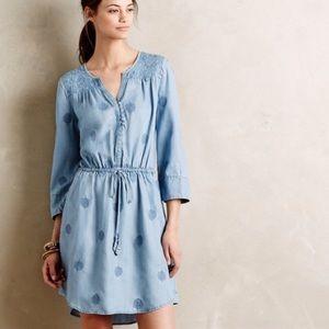 Anthropologie HoldingHorses Plumage Chambray Dress